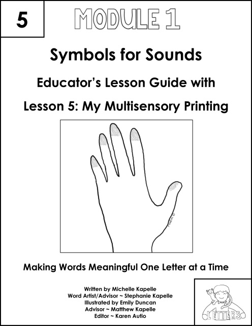 Letters Symbols For Sounds Lesson 5 My Multisensory Printing